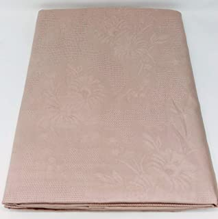 Fazzini Copriletto Matrimoniale in Piquet di Puro Cotone Peso Primaverile Art Springtime cm Ocra 8 270x270