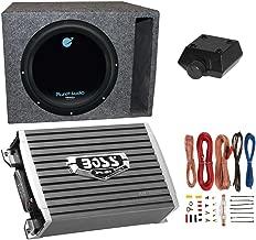 Planet Audio 1800W Subwoofer + Boss 1500W Amplifier + Remote & Wiring Kit + Q-Power Enclosure
