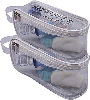 حقيبة أدوات التجميل من كوبر إندستريز، تحتوي على قطعتين لتنظيم أدوات التجميل وحقيبة السفر، لون أبيض