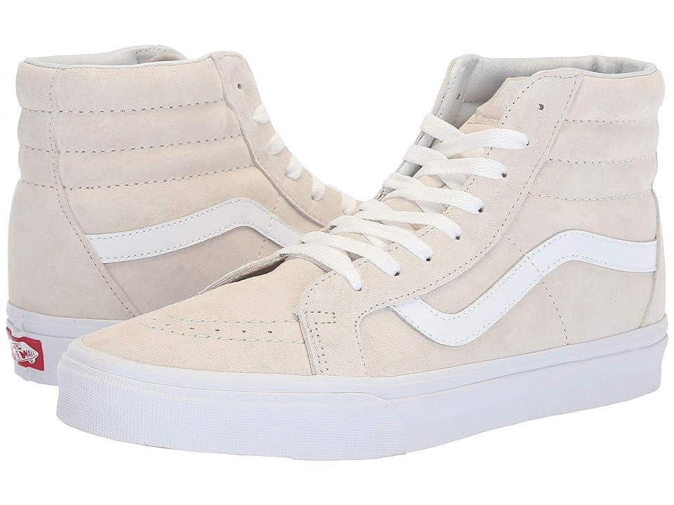 Vans SK8-Hi Reissue ((Pig Suede) Moonbeam/True White) Skate Shoes