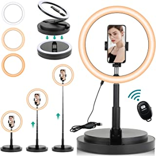 Rimposky 29 cm Selfie Ring Light with Stand and Phone Holder,Dimmable LED Circle Lightning for Indoor/Live Stream/Makeup/Y...