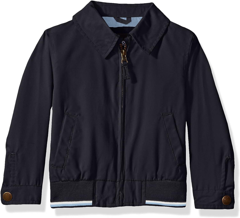 LONDON FOG Boys' Micro Rib Knit Banded Bottom Jacket: Clothing, Shoes & Jewelry