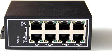 WIWAV WDH-8GT-DC 10/100/1000Mbps Switches Ethernet industriales Gigabit de 8 Puertos no administrados con riel DIN/Montaje en Pared (sin Ventilador, -30 ℃ ~ 75 ℃)