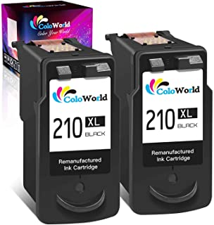 ColoWorld Remanufactured 210XL Black Ink Cartridge Replacement for Canon 210 PG-210XL Use for Canon Pixma MX410 MX350 MP25...