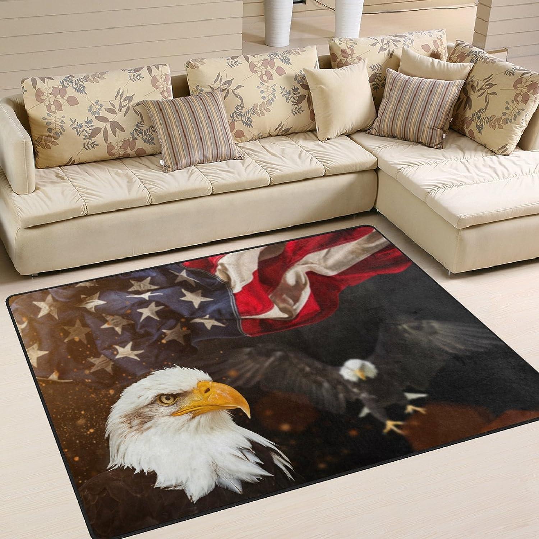 Use7 Use7 Use7 Teppich, amerikanische Flagge, Bald Eagle, USA, Textil, Mehrfarbig, 160cm x 122cm(5.3 x 4 feet) B07L7XP9HM 701237