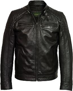 HIDEPARK Budd: Men's Black Leather Jacket