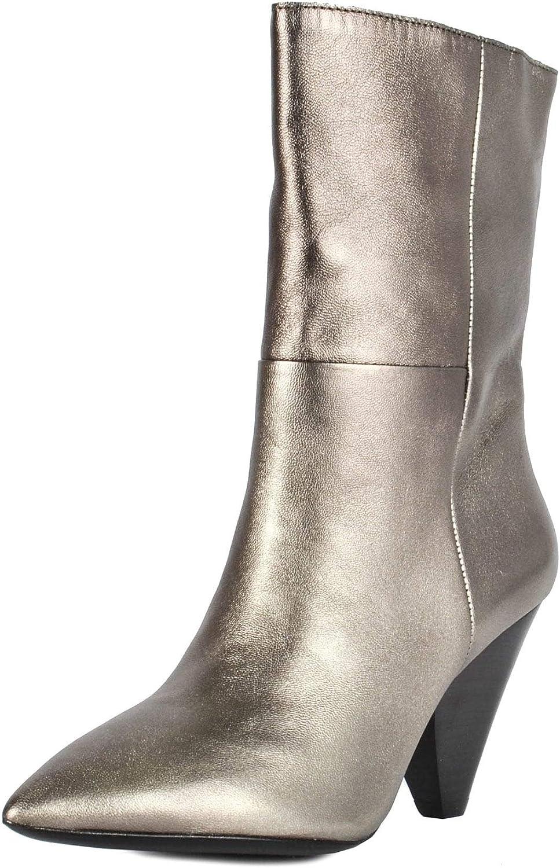 Ash Damen Damen Doll metallisches Leder Stiefel - mit Kegelabsatz 39 Stone  gute Qualität