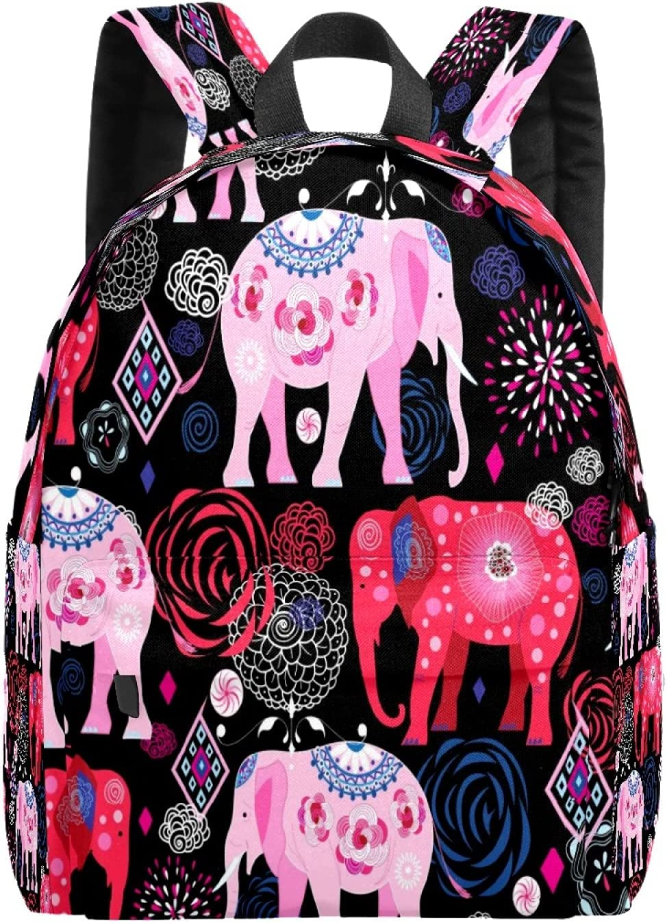 School Bag Backpack College Super beauty product restock quality Price reduction top Elephant Lightweig Casual