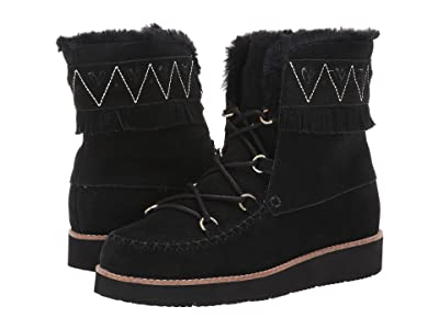Jack Rogers Vera Suede Lace-Up Boot (Black) Women