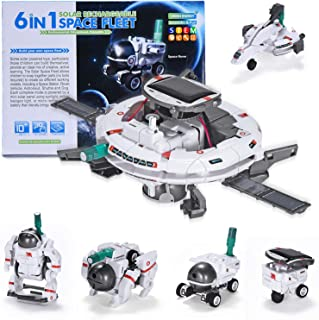 AESGOGO STEM Projects 6-in-1 Solar Robot Kit,Building Model Space Toys for Kids 8-12,Science Education Gifts for Boys Girl...