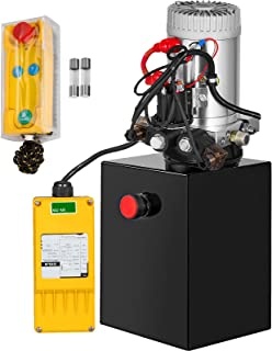 Mophorn 6 Quart Double Acting Hydraulic Pump 12V Hydraulic Power Unit Remote Control Reservoir