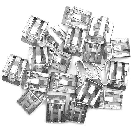 Sourcing Map 10 Stk Armaturenbrett Verkleidung Halteklammern Metall Auto Silber Auto