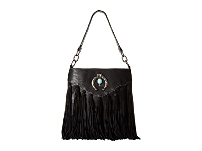 M&F Western Shelby Shoulder Bag (Black) Shoulder Handbags