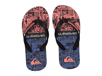 Quiksilver Kids Molokai Print (Toddler/Little Kid/Big Kid) (Black/Black/Red) Boys Shoes