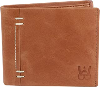 WELBAWT Latest Sleek and Stylish 100% Genuine Leather Bi-Folded Wallet for Men (Normal Tan)