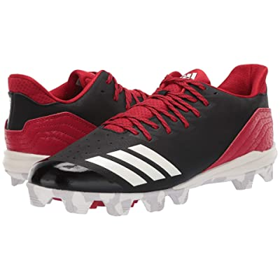 adidas Icon 4 MD (Black/Cloud White/Power Red) Men
