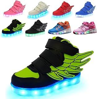 [ALSYIQI] キッズスニーカーLEDライトUSB充電男の子女の子発光靴 MDソールスニーカー
