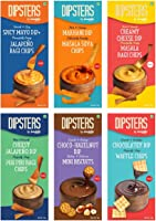Snackible Dipsters Chips & Dip - Assorted Pack of 6 Flavours (Pack of 12) - 12x50gm | Cheesy Jalapeno, Creamy Cheese,...