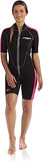 Cressi Women's Short Front Zip Wetsuit for Surfing, Snorkeling, Scuba Diving   Lido Short Lady