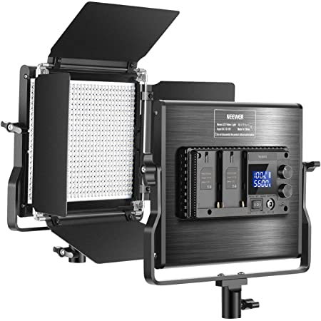 Neewer Upgraded 660 LED Video Light, Dimmable Bi-Color 3200K~5600K CRI 96+ LED Panel Light with LCD Screen, U-Mount Bracket and Barndoor for Studio Photography, YouTube Video Shooting (NL660S)