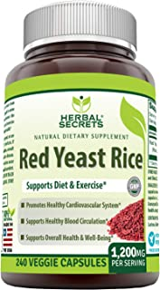 Sponsored Ad - Herbal Secrets Red Yeast Rice Dietary Supplement - 1,200 Mg (Per Serving of 2 Capsules), Veggie Capsules - ...