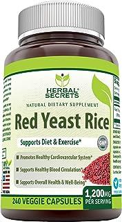 Sponsored Ad - Herbal Secrets Red Yeast Rice Dietary Supplement - 1,200 Mg (Per Serving of 2 Capsules), Veggie Capsules- ...