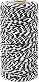 Just Artifacts ECO Bakers Twine 110-Yards 12Ply Striped Black - Decorative Bakers Twine for DIY Crafts and Gift Wrapping