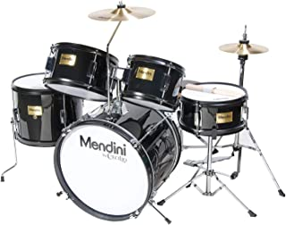 Mendini by Cecilio 16 inch 5-Piece Complete Kids/Junior Drum Set with Adjustable Throne, Cymbal, Pedal & Drumsticks, Metal...