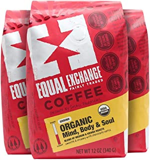 Equal Exchange Organic Ground Coffee, Mind Body Soul Drip, 12 Ounce (Pack of 3)