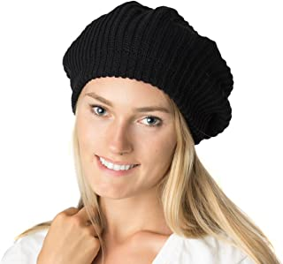 an Fall Winter Knit Beanie Beret Hat for Women Soft Knit Lining Many Styles