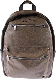 Robert Graham Mens North Argyle Faux Leather Logo Backpack
