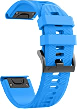 ANCOOL Compatible with Fenix 5 Band Easy Fit 22mm Width Soft Silicone Watch Bands Replacement for Fenix 5/Fenix 5 Plus/Forerunner 935/Approach S60/Quatix 5
