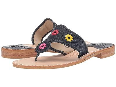 Jack Rogers Denim Jacks Flat Sandal (Denim/Multi) Women