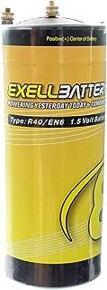 Exell Battery EBR40 Type R40 1.5V Battery EN6, HO40, 906AC, Ignitor USA SHIP
