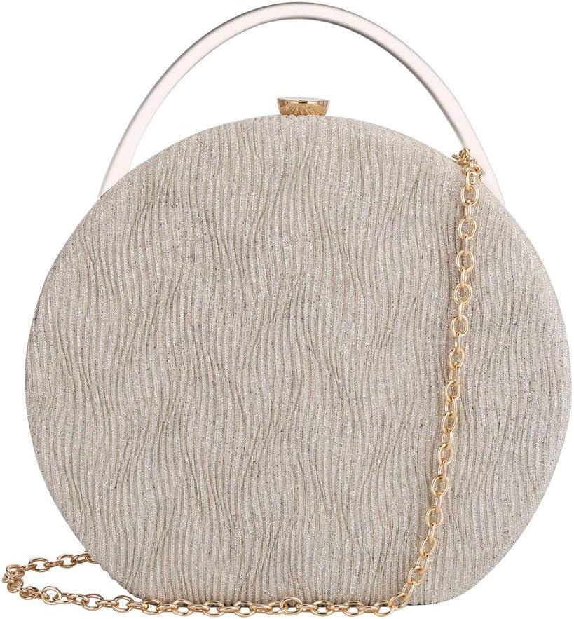 JIYINGDUO Women's Vintage Style Evening Bag Wedding Party Handbag Clutch Purse Bags (Gold)