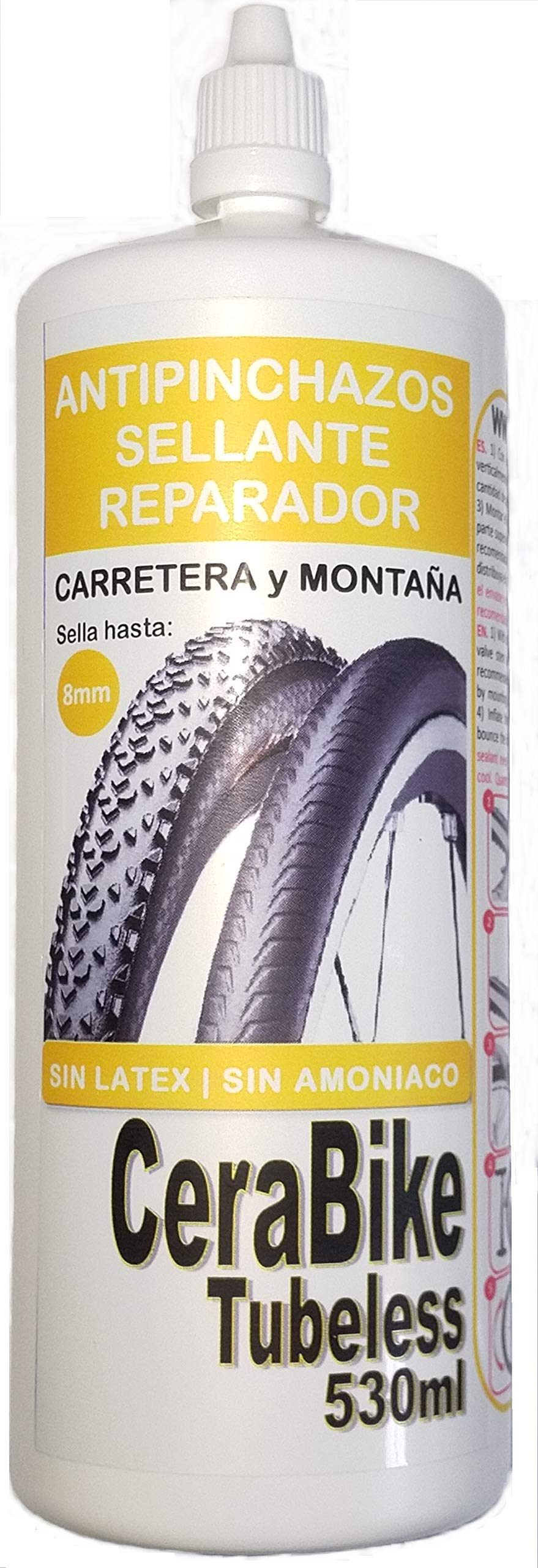 CeraBike TUBELESS Sellante Antipinchazos 530 ml. Válido para ...