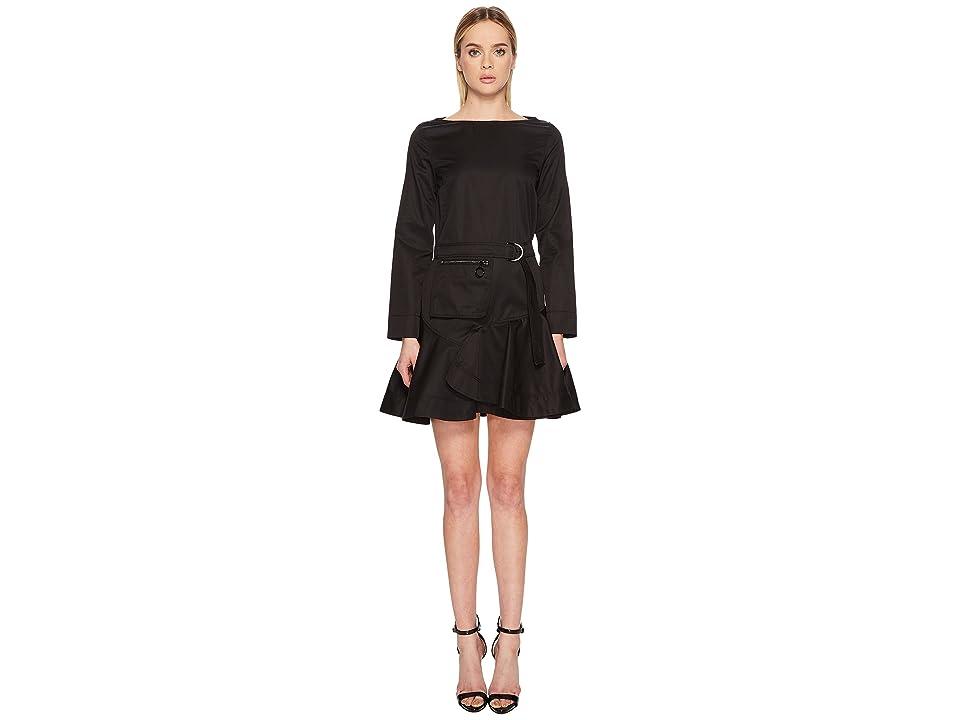 Sportmax Clair Long Sleeve Dress (Black) Women