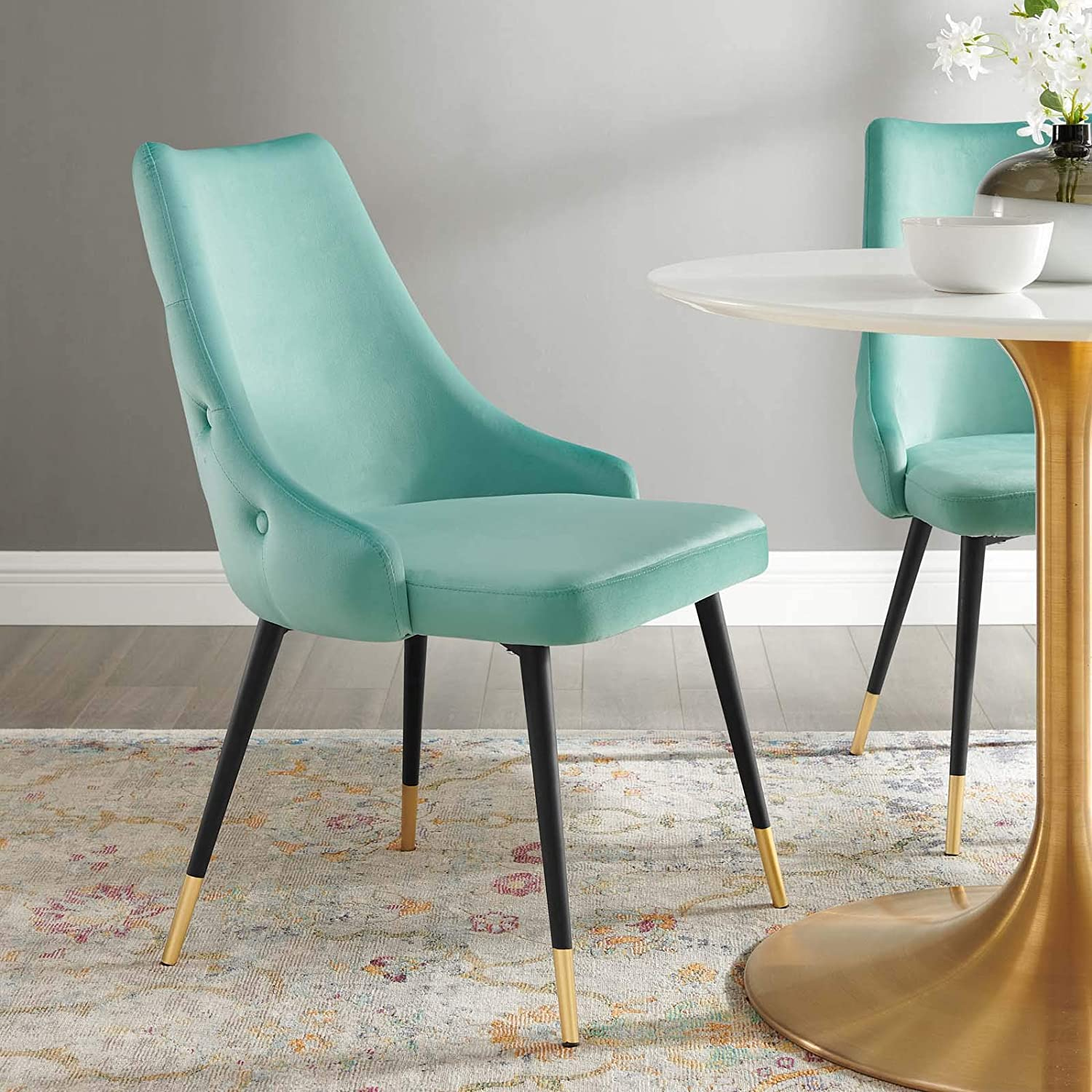 Modway Adorn Tufted Max 71% OFF Performance Velvet Mint Side Dining Chair sold out