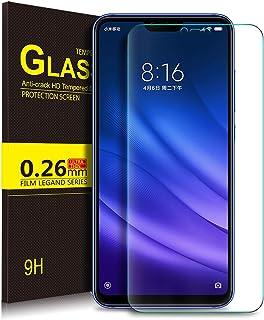 KuGi Premium Tempered Glass Screen Protector for Xiaomi MI 8 Lite, Clear