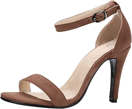 caf0acc802 Stiletto Wedding Pumps for Women Peep Toe Sandals Ankle Strap Dress Sandals  by Bigtree