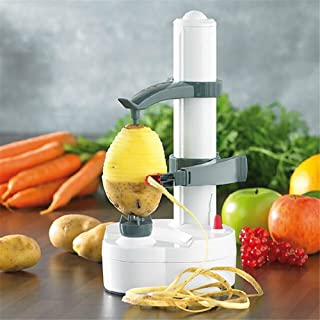 Weimei Multifunctional Electric Automatic Peeler Stainless Steel Fruit and Vegetable Peeler Machine for Apple and Potato (White)