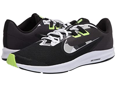 Nike Downshifter 9 (Black/White/Particle Grey/Dark Smoke Grey) Men