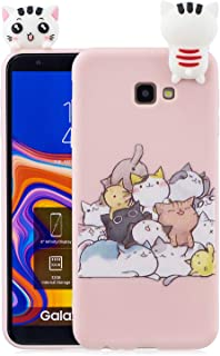 c9c5e7ad500 HopMore Funda para Samsung Galaxy J4 Plus (J4+) 2018 Silicona Dibujo 3D  Divertidas Panda