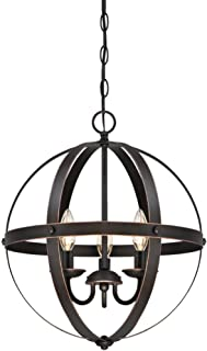 Westinghouse Lighting 6341800 Stella Mira Three-Light Pendant, Oil Rubbed Bronze Finish with Highlights W