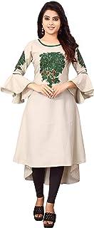 Om Sai Latest Creation Women's Rayon Fabric Stitched Kurtis for women
