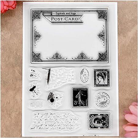 No/ël Silicone Clear Seal Stamp DIY Scrapbooking Gaufrage Carte Album Photo VIccoo Tampon Transparent 2