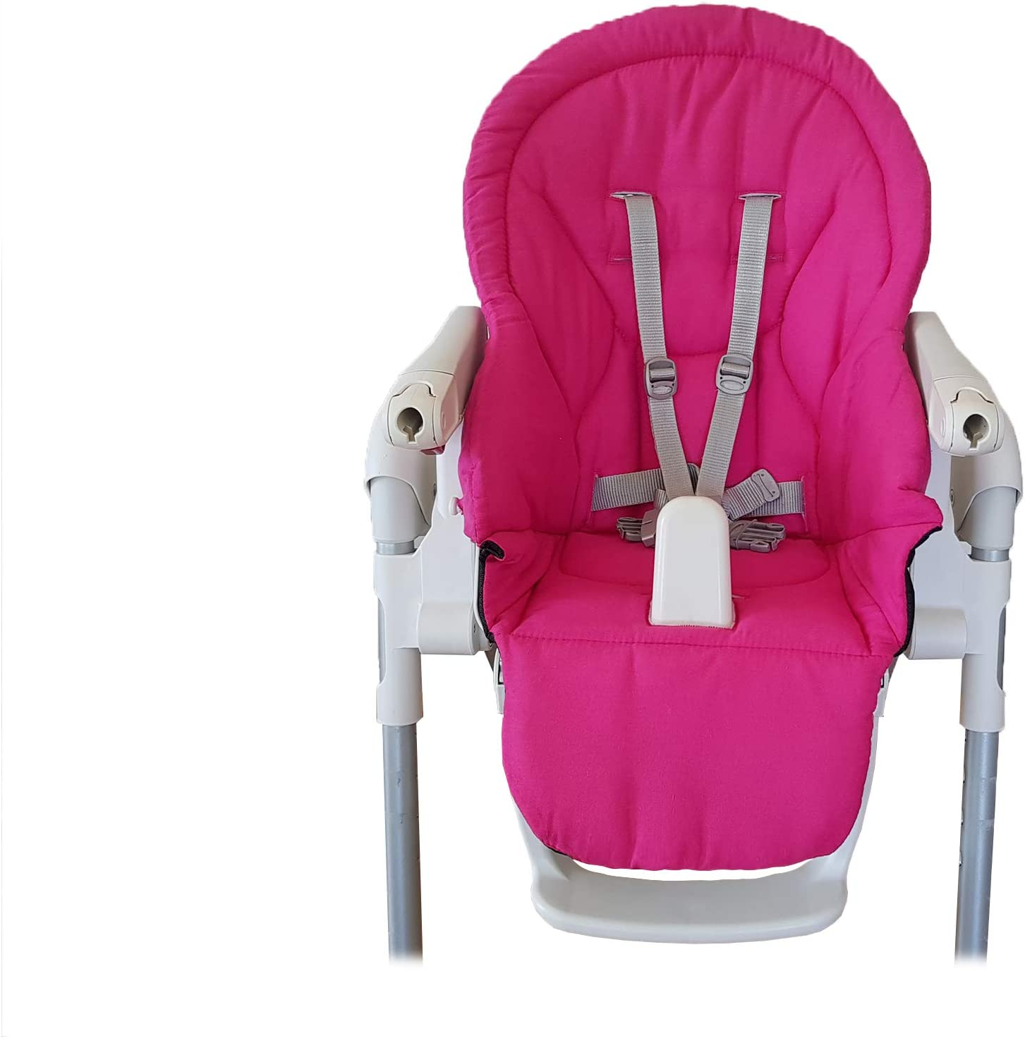 Dark Pink - 100/% Cotton Aveanit Compatible with Peg Perego Prima Pappa Zero 3 Cover Highchair Cushion