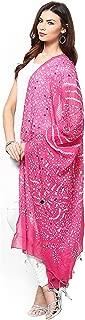 APRATIM Women's Cotton Bandhani Dupatta With Mirror Work