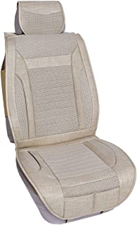 Qbedding Soothing Drive All Season Universal Fit Breathable Car Seat Cover (Plaid, One Piece)