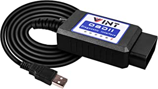 FORScan OBD2 Adapter, bbfly VINT-TT55502 ELMconfig ELM327 modified For all Windows compatible with Ford Cars F150 F250 and Light Pickup Truck Accessories Scan Tool, Code Reader MS-CAN HS-CAN Switch